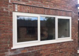 Cream Woodgrain Window