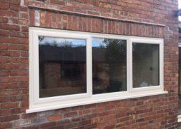 Cream Woodgrain Window