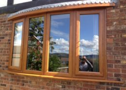 Light Oak Bow Bay Window