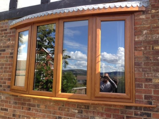 Light Oak Bow Bay Window
